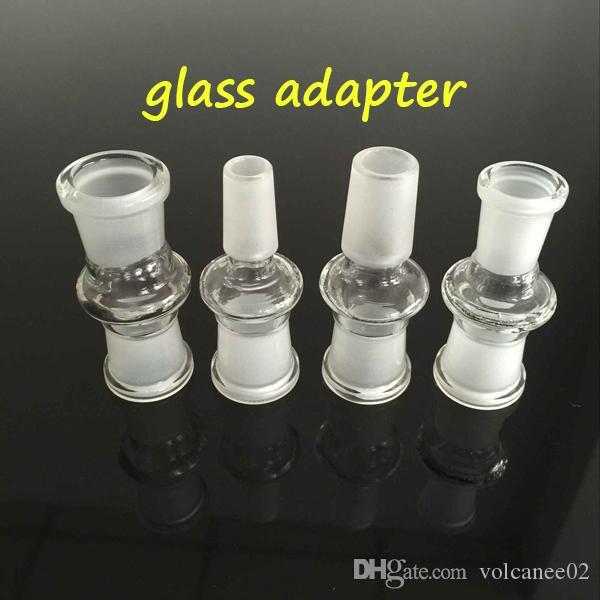 Hookah Glas Drop Down Adapter Groothandel 10mm 14mm 18mm met mannelijke vrouwelijke malende mond Duidelijke gewrichtsadapters voor bongen