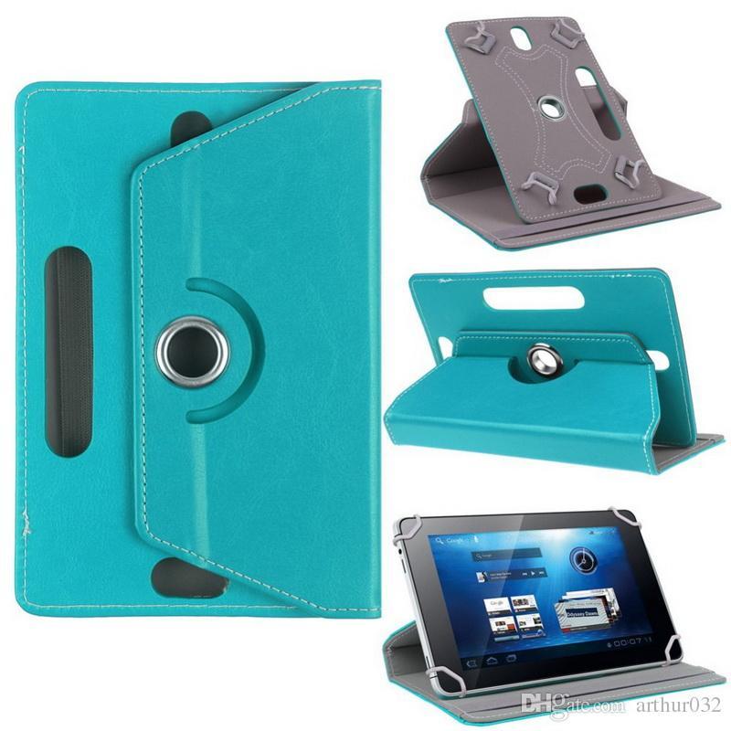 탭 가죽 케이스 360도 회전 범용 안드로이드 태블릿 PC 용 보호 스탠드 커버 폴드 플립 케이스 내장 카드 버클 7 8 9 10 인치