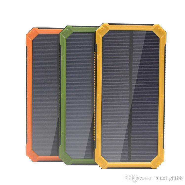 20000mAh Novel Banque d'énergie solaire Highlight LED Banques d'énergie solaire 2A Sortie de téléphone portable Portable Chargeur solaire Powerbank371644230