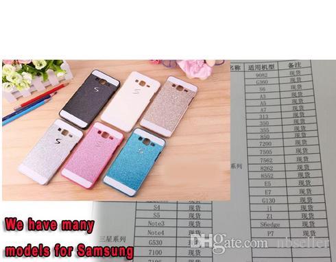 S line Bling Glitter Hard Plastic Hard Luxury Case For Samsung Galaxy Core Prime G360 Alpha G850 Grand Duos I9082 E5 E7 Hybrid Skin Cover