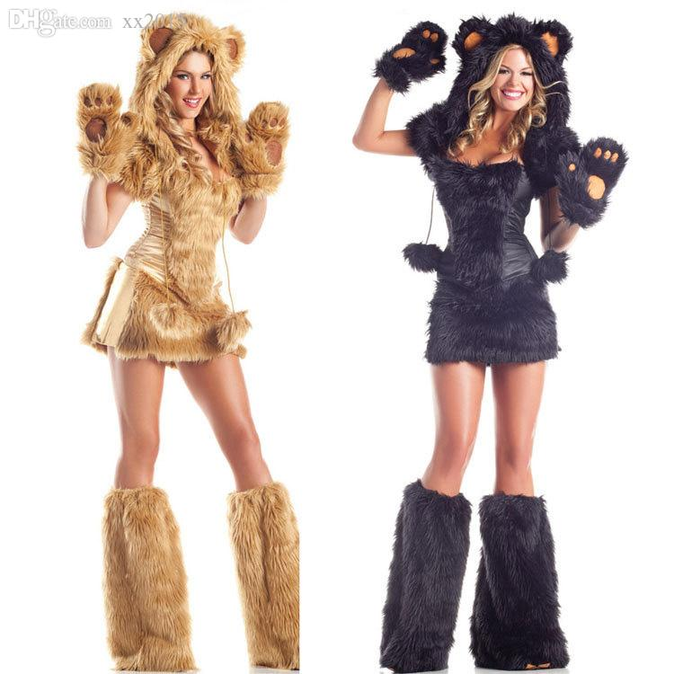 Wholesale- New Fashion Multicolor High Quality Halloween Cosplay Costumes Sexy Lion Plush Animals Loaded Temptation Set Costumes Women Costume Cloak Cosplay ...  sc 1 st  DHgate.com & Wholesale- New Fashion Multicolor High Quality Halloween Cosplay ...