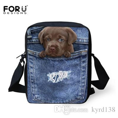 e7e0f3980740 FORUDESIGNS Cute 3D Animal Cat Dog Print Women Messenger Bags Casual Ladies  Girls Cross Body Mini Bimba Bag Bolsa Feminina G02 School Backpack Shoulder  Bags ...