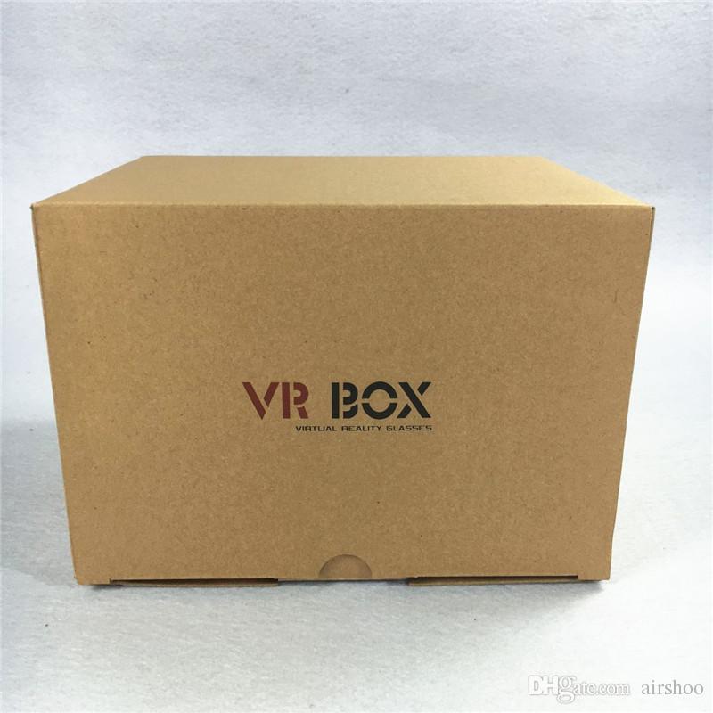 MOQParfait Montage Sur La Tête VR BOX Version 1.0 Lunettes VR Lunettes De Réalité Virtuelle Rift Google Carton 3D Film DHL Gratuit