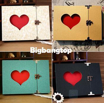 1509 Diy Album Birthday Gift Creative Hollowed Heart Shape