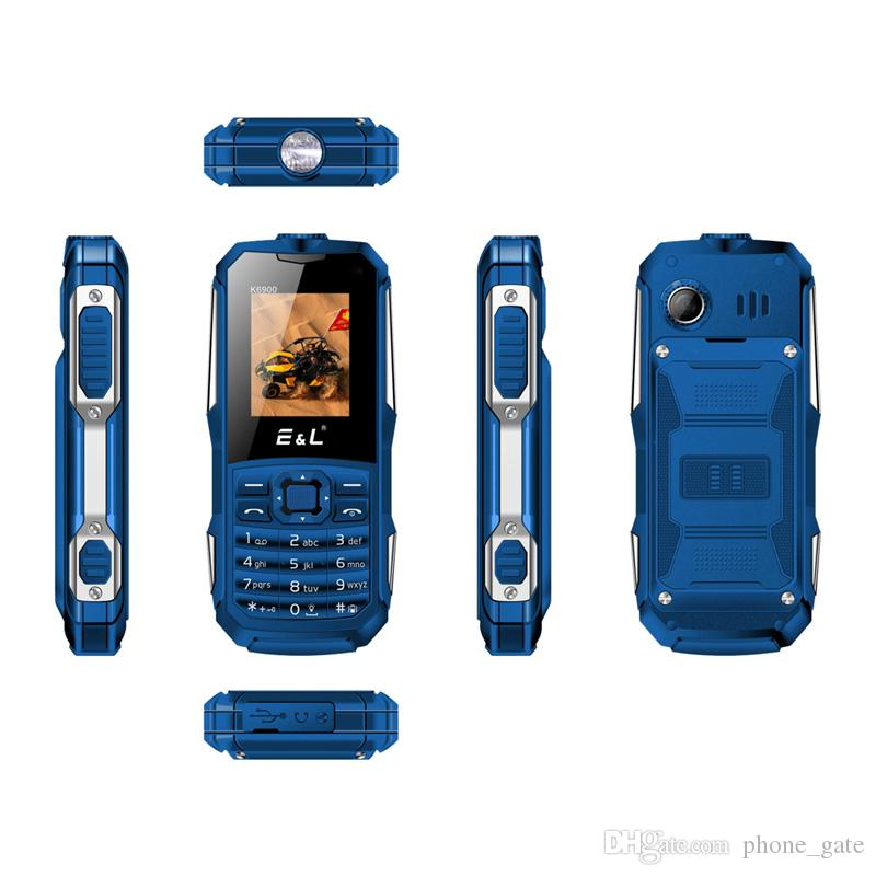 E&L K6900 Keyboard Waterproof Shockproof Dual SIM IP68 GSM Keyboard Mini Key Elder Telephone Rugged Phone FM Radio Mobile Phone