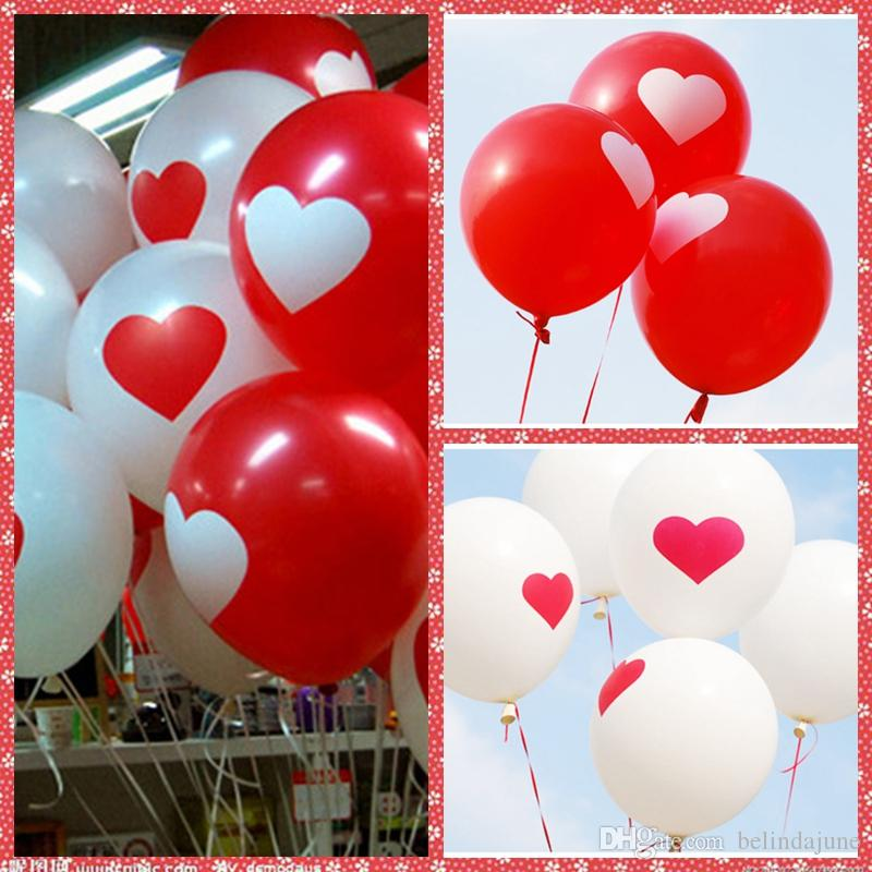12 Inch 2.8g Latex Heart Balloon For Valentineu0027s Wedding Christmas Birthday Baby  Shower Party Home Hotel Decoration Supplies Wholesale