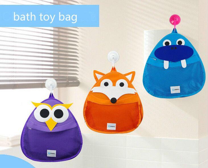 2016 New Cute Bath Bag Toy Storage Bag For Kids Baby Bath Tub Toy Bag  Hanging Organizer Storage Bag Baby Bath Toys Bag