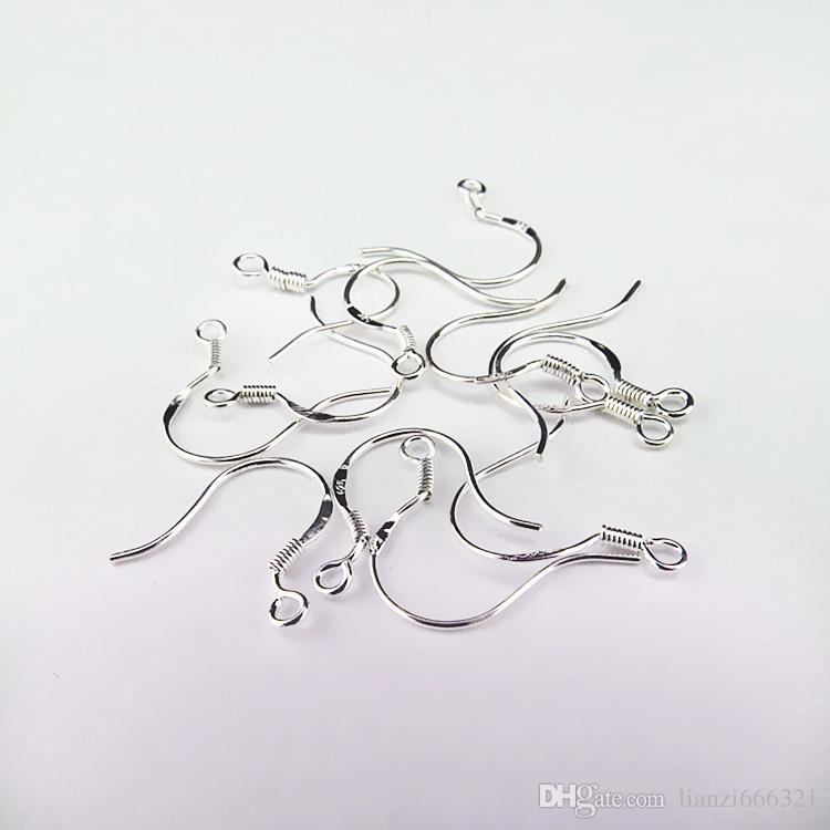 925 الفضة البولندية حلق القرط الفرنسية الأذن سلك هوك الاسترليني الفضة الفرنسية السنانير 925 earwires الأذن