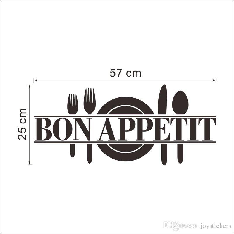Приятного аппетита еда стены стикеры кухня украшение комнаты Diy винил Adesivo де Paredes Главная наклейки искусство плакаты бумаги