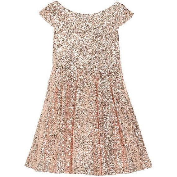 2019 Girls Pageant Dresses Bling Rose Sequins Bateau Capped Sleeveless Zipper Tea Length Ruched Flower Girl Dresses A Line