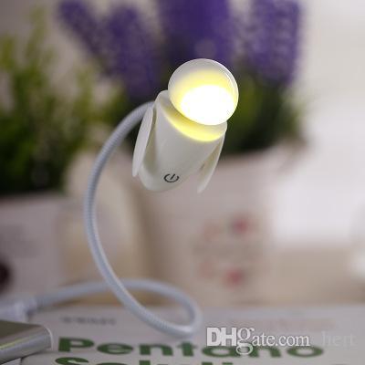 Nueva máquina de bebé USB Night Light Tercer engranaje Touch Dimmer interruptor Led dormitorio lámpara de escritorio de la computadora de tocador bebé regalo de niño