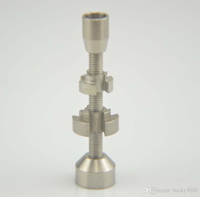 Chiodo doppio con snodo regolabile in titanio 14mm 18mm Accessori universali narghilè bong in vetro con tubo di acqua offre anche unghie in ceramica