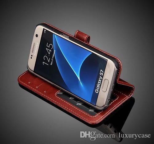 삼성 S7 케이스 플립 커버 지갑에 대 한 옵션 슬링 삼성 갤럭시 S7 G930 G9300에 대 한 좋은 럭셔리 원래 다채로운 슬림 가죽 케이스