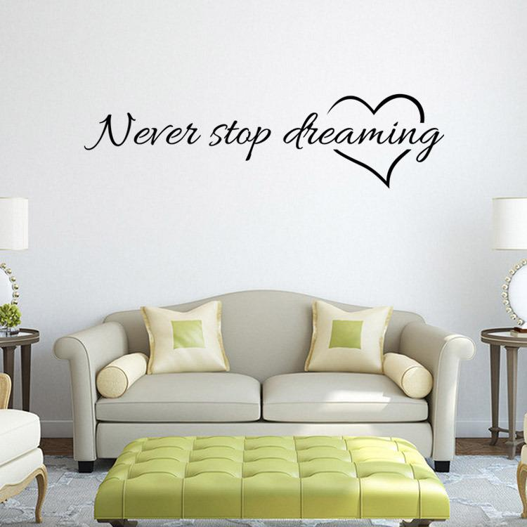 Never Stop Dreaming Quote Wall Stickers Rome Part 36