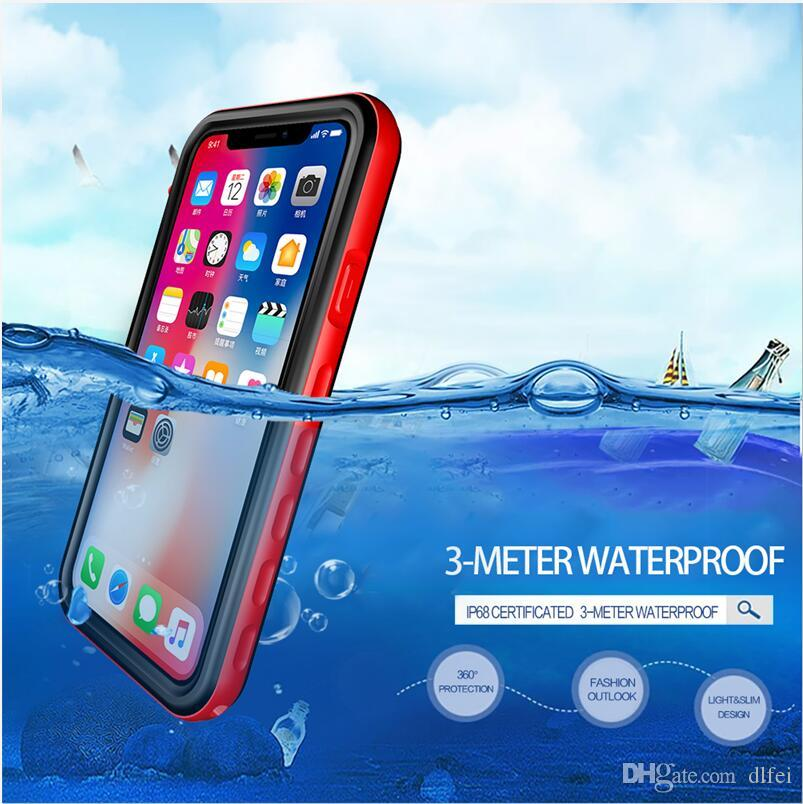 new concept 12863 1117b Waterproof Case Shockproof Dirtproof Snowproof Protective Phone Case for  iPhone X / iPhone 10 DHL Free Ship