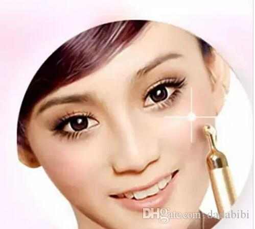 24 K Beleza Bar Golden Derma Roller Energia Rosto Massager Cuidados de Beleza Vibração Massagem Facial Elétrica Do Japão