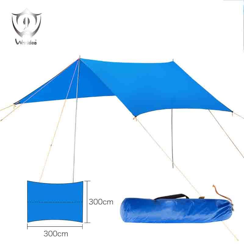 Wholesale- Outdoor Sunshade Moisture-proof Colorful Sky Beach Wind 3*3 M  Fishing Camping Barbecue Picnic Shelter ZS7-295