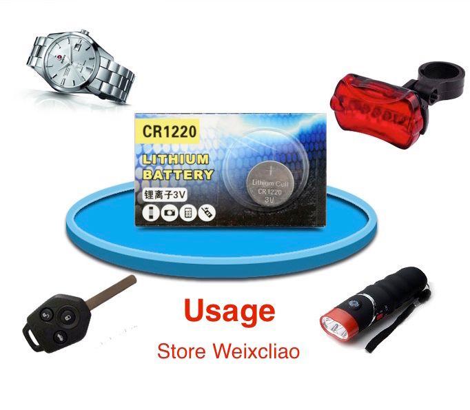 1 лот CR1220 3 в литий-литий-ионный литий-ионная батарея CR 1220 3 Вольт литий-ионные батареи бесплатная доставка