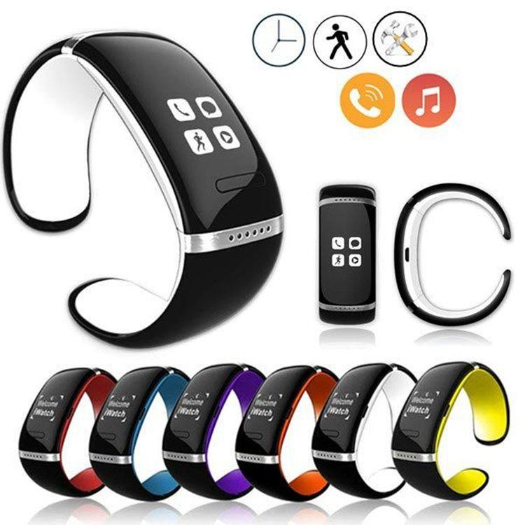 L12S OLED Touch Screen Smart Bracelet U Orologio da polso Bluetooth SMS Sync Watch Smartwatch per iPhone HTC Android Windows Phone
