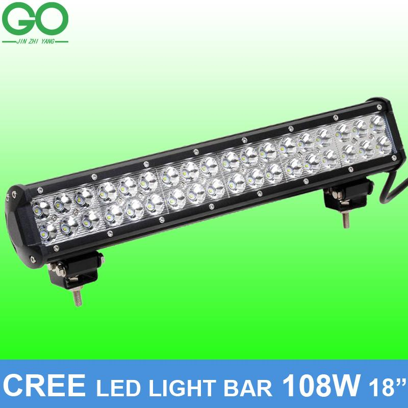 18 inch 108w cree led work light bar for offroad boat car tractor 18 inch 108w cree led work light bar for offroad boat car tractor truck 12v 24v spot flood combo beam auto inspection lamps led work light 108w cree led aloadofball Image collections