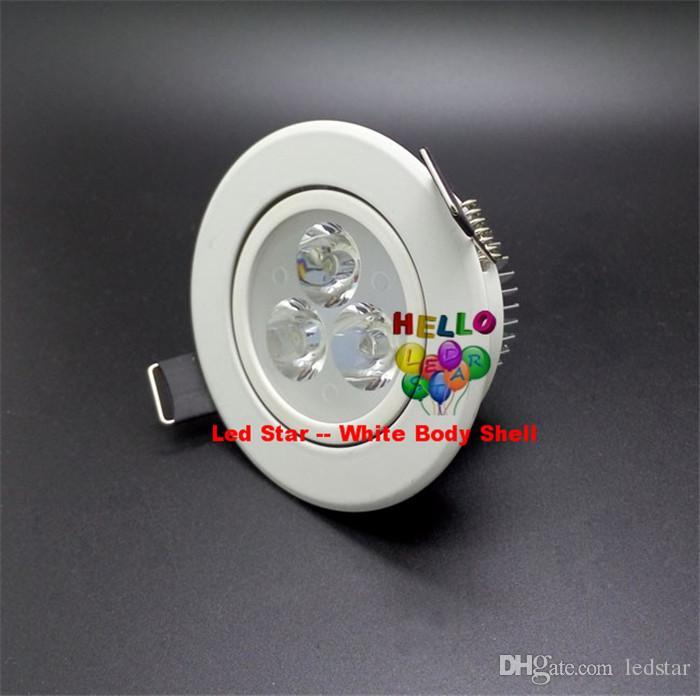 Branco / Prata Dimmable 9 W 12 W 15 W 21 W Conduziu Para Baixo Luzes de Alta Potência Levou Downlights Recesso Teto luzes CRI85 AC 110-240 V Com fonte de Alimentação