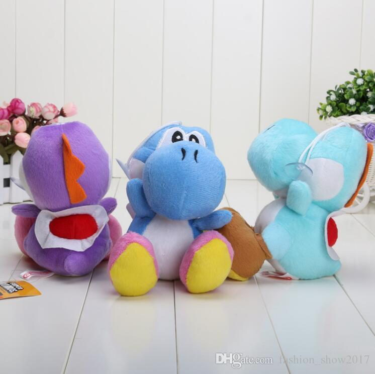 Hot Super Mario Bros Yoshi Plush Toys Stuffed Soft Dolls With Keychains