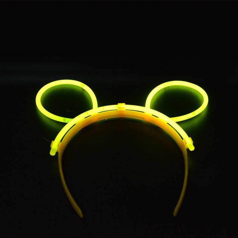 Женские девушки Glow Stick на оголовье Bunny Cat Ears Glow In The Dark Hairband Rave Fun Party Decoration