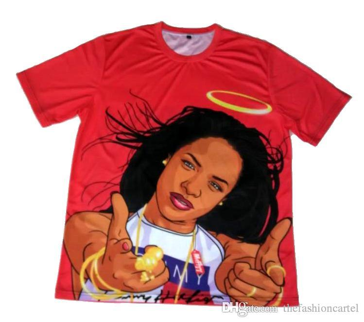 93bc9393b Real Usa Size Aaliyah Babygirl 3D Print T Shirts Plus Size Shirt Tee Shirt  Shirts From Thefashioncartel, $15.54| DHgate.Com