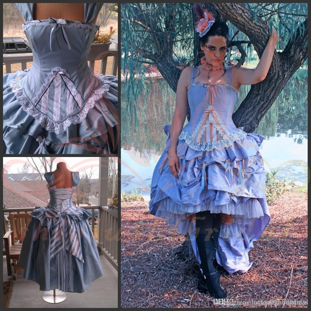 Victorian Dresses 2015 Alice Wonderland Wedding Gown Corset