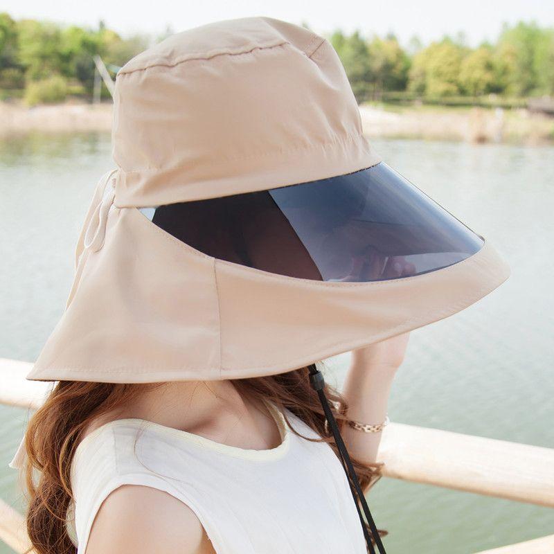 Miss Xia Tian Korean UV Sun Visor Hat Covering Her Face Summer Outdoor 360    Deg  Sun Hat UK 2019 From Dego 7c3a3284fae