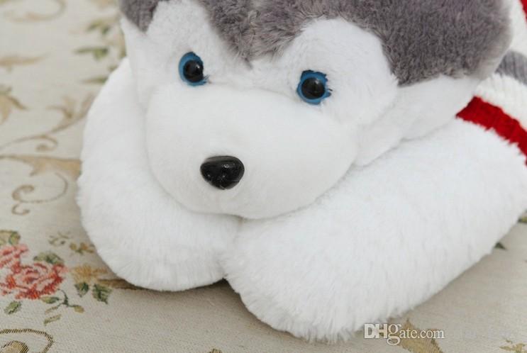 Husky Dolması Hayvanlar Peluş Oyuncaklar Erkek Kız Doğum Günü Partisi Hediyeler Sevimli Köpekler Çizgili Kazak Oyuncak Huskie Artı Sayfalar Oyuncak 40 50 70 100 cm D4283