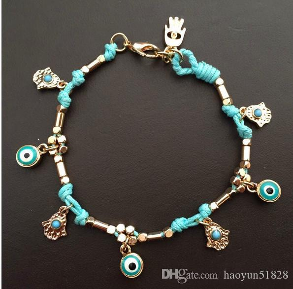 2016 New Fashion Turkey Evil Eye Resins Beads pendant Bracelet