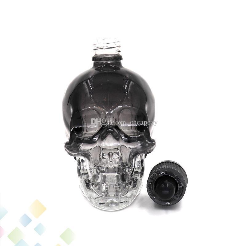 120 ml Schädelglas-Troppfe-Flaschen 3 Farben leer E-Flüssig-Flaschen Hohe Qualität mit kindersicherer Kappe Fit Eliquid DHL frei