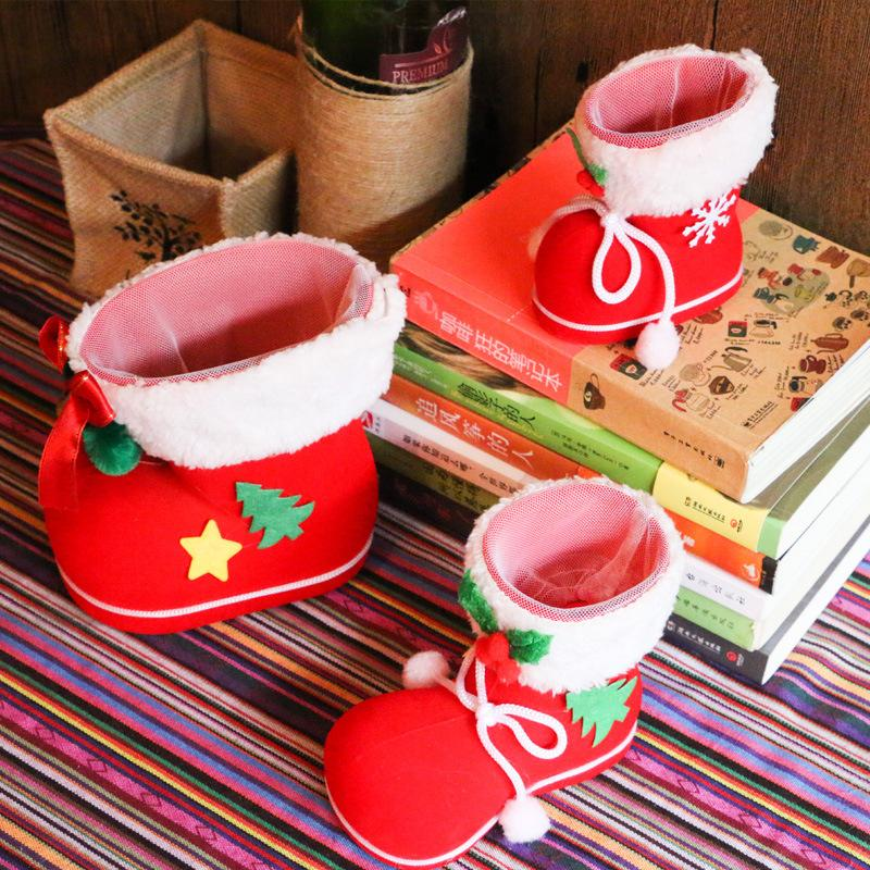 christmas decorations childrens gifts candy boots christmas decorations small gift bags festive christmas socks wholesale party goods party hanging