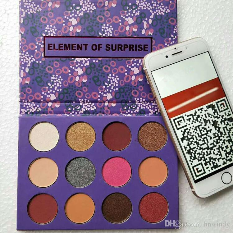 Dropshipping Color Pop élément de palette de maquillage surprise Marque fard à paupières palette fard à paupières cosmétiques cadeau de Noël pour les filles 12 couleurs