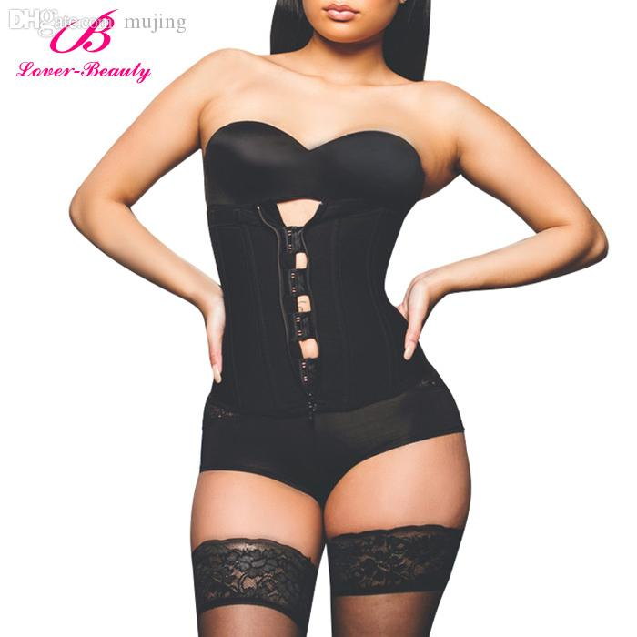 d5f618739c7 Wholesale-Zipper And Hooks Combo Rubber Latex Waist Trainer Sexy ...