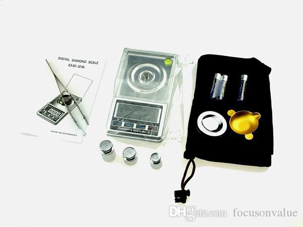 Escala de diamante digital 0.001g-20g 0.001g-30g 0.001g-50g display LCD balança digital de peso balança para Jóias de Ouro Prata 30 pçs / lote