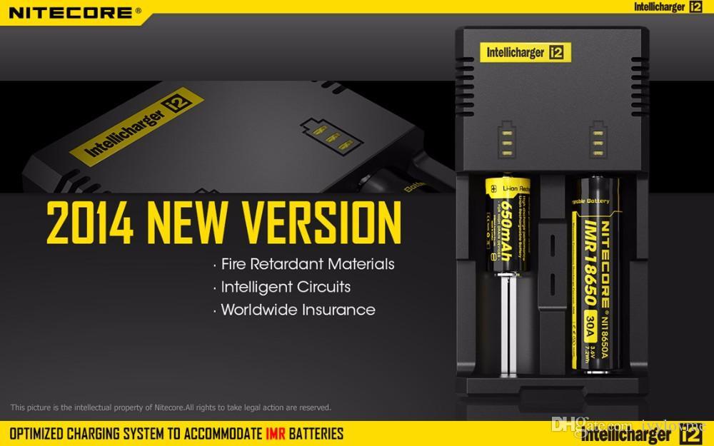 뜨거운! Nitecore I4 I2 Digicharger LED 디스플레이 배터리 충전기 유니버셜 Nitecore 충전기 충전 케이블 소매 패키지