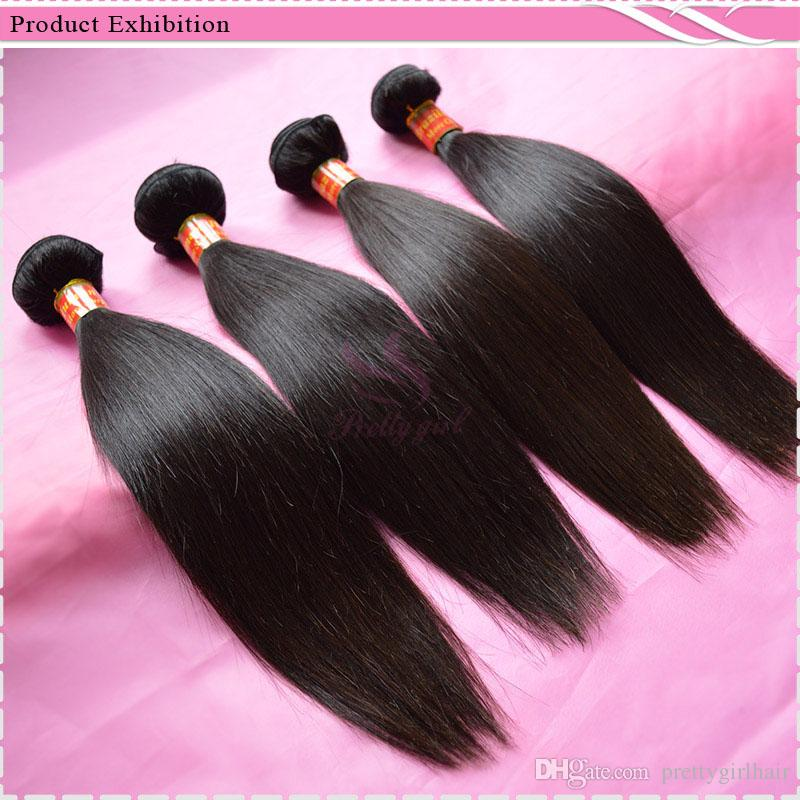 Filipino Virgin Hair Straight Unprocessed 7A Brazilian Peruvian Malaysian Cambodian Indian Remy Human Hair Weave Bundles Natural Color Thick