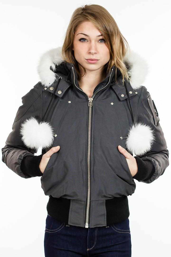 Moose Knuckles Black Womens Parka Peninsula Conflict