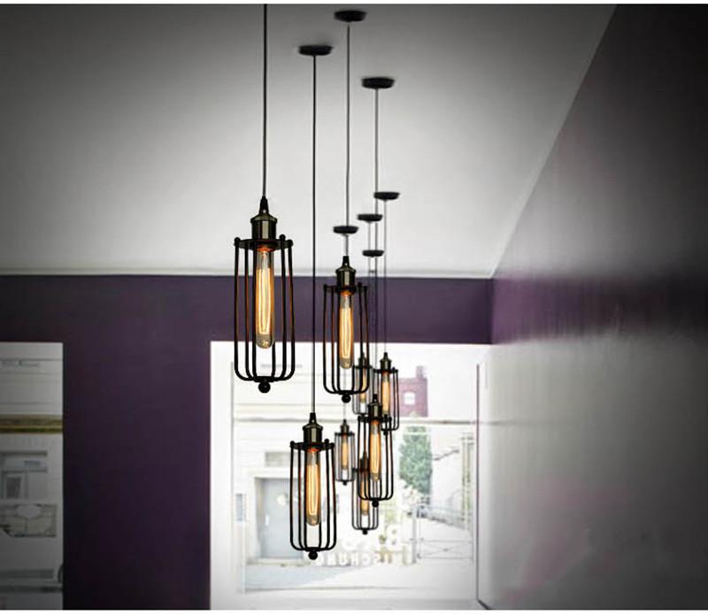 Горячая Винтаж Эдисон промышленный потолок подвесной светильник подвесное освещение лофт американский загородный ресторан спальня лампа Европейский ретро железо лампы