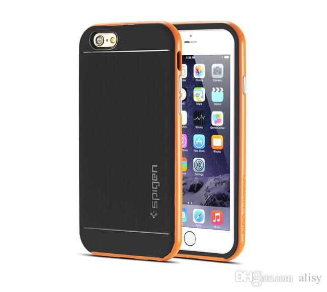 SGP Neo Hybrid Case For iPhone 6 6S Plus Bumblebee Armor TPU & PC Bumper Soft Back Cover Shockproof Back Skin w/Retail Package