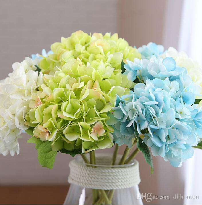 Fiore decorativo del partito della casa del fiore di Hydrangea artificiale Fiori di seta fatti a mano di buona qualità SF018