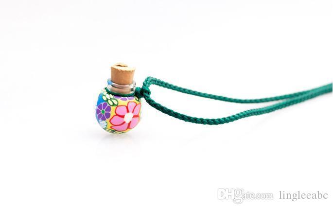 Lampwork Glas Anhänger Aromatherapie Anhänger Halsketten Schmuck Parfüm Fläschchen Flasche Anhänger ätherisches Öl Diffusor Halskette