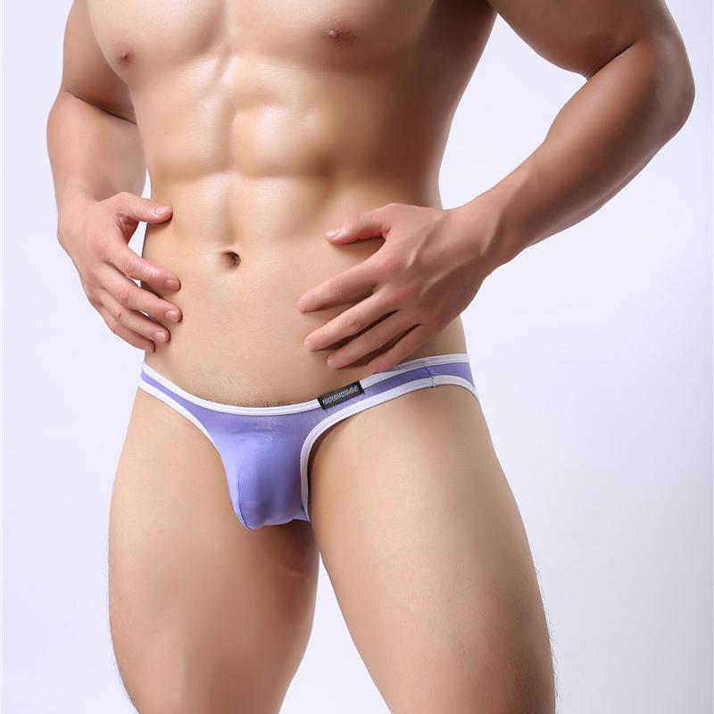 Slip de soie glacée Sexy Hommes Transparent Hommes Sous-vêtements Slip Taille Basse Slip Homme Cuecas Slip Mesh Ultra-mince Voir à travers Sous-vêtements