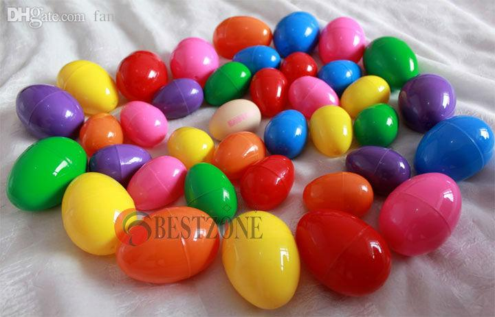 Online Cheap Wholesale Wholesales Plastic Easter Eggs For Decoration Or Toy CapsuleSolid Colored ToysSize 4x6cm By Derricke
