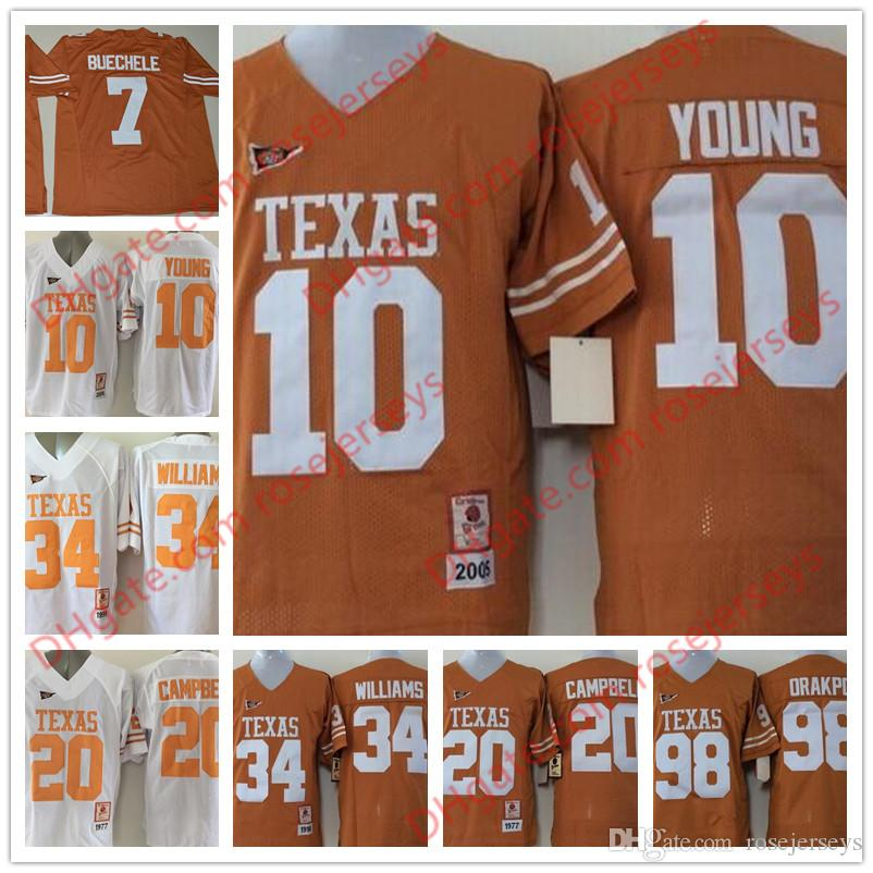 new product 2a50f 941e5 texas longhorns 98 brian orakpo orange jersey
