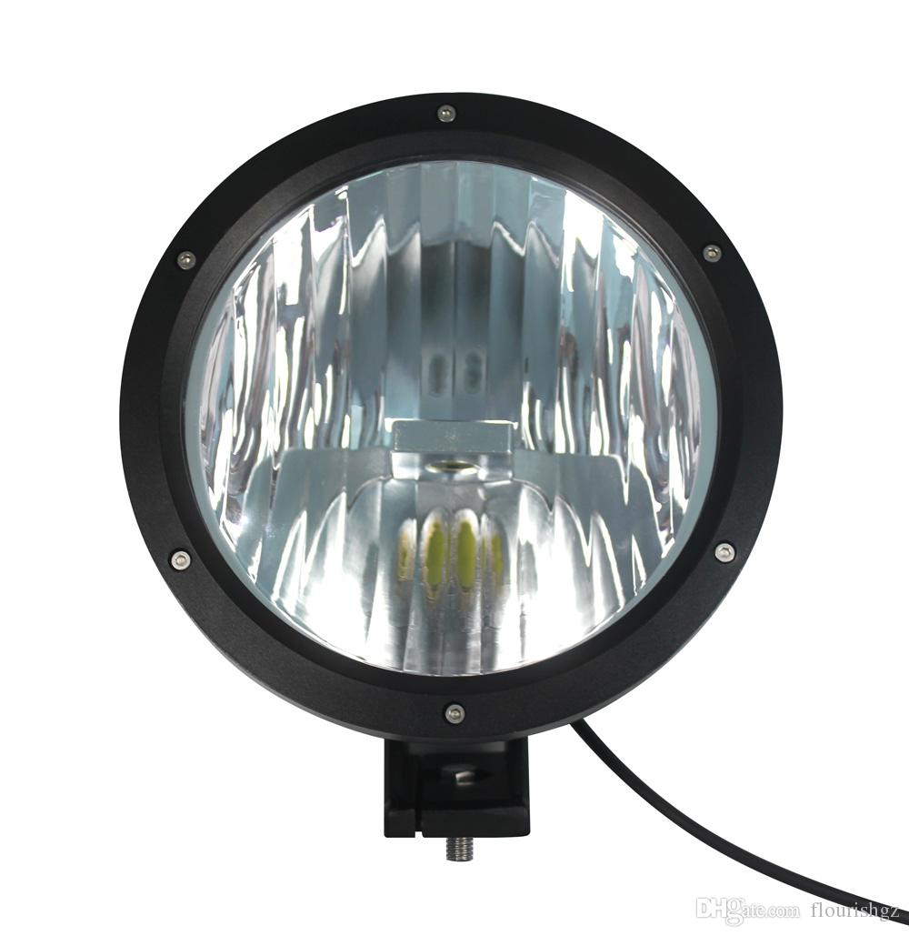 """7"""" 50W CREE LED Driving Work Light 2-COB*25W CHIP Offroad SUV ATV 4WD 4x4 Spot Pencil Beam 12/24V 5000lm Xenon White 6000K Replace HID"""