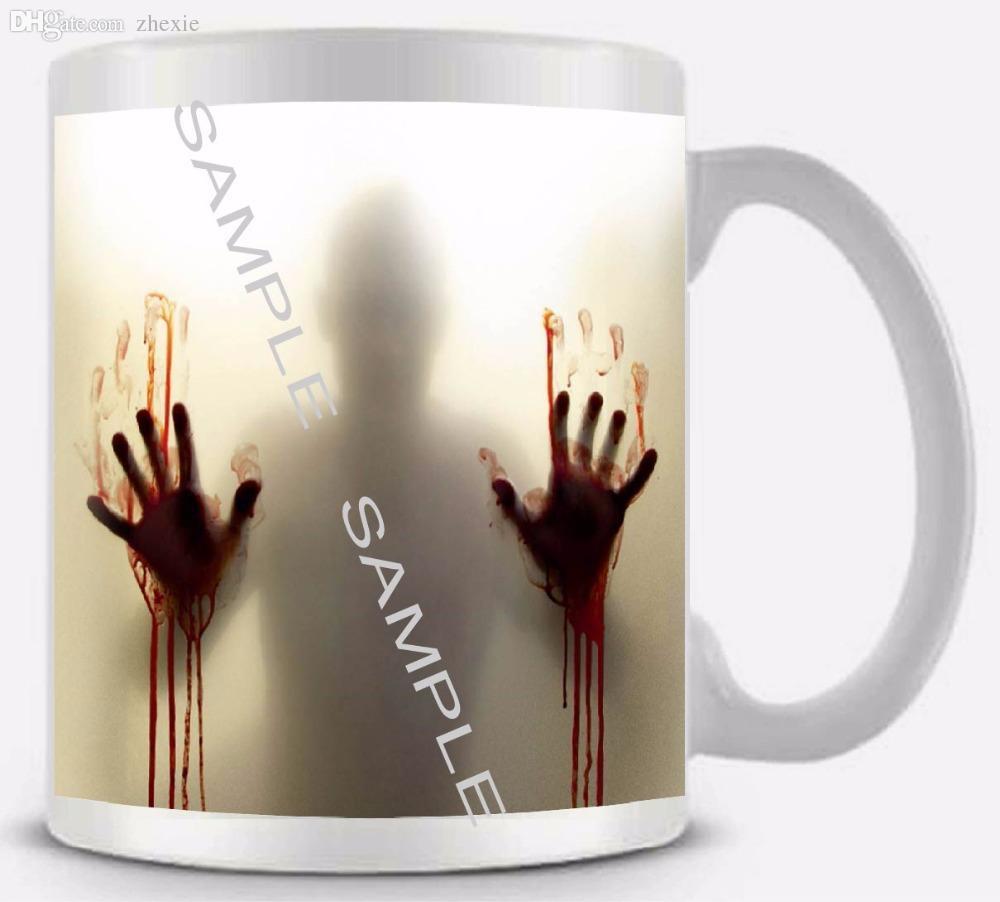 wholesale the walking dead mug ceramic white coffee mug cup 11oz coffee cup fathers day gift funny novelty travel mug mug large coffee mugs - Coffee Travel Mugs