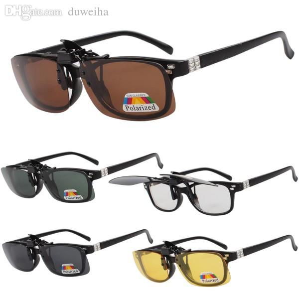 3f7c1ff0c7 2017 Polarized Day Night Vision Flip Up Clip On Lens Driving Glasses ...